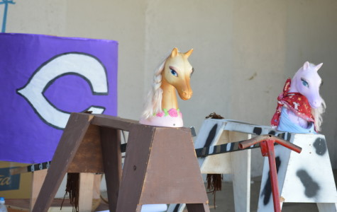 Students from the Junior class worked hard in order to to complete their parade float.
