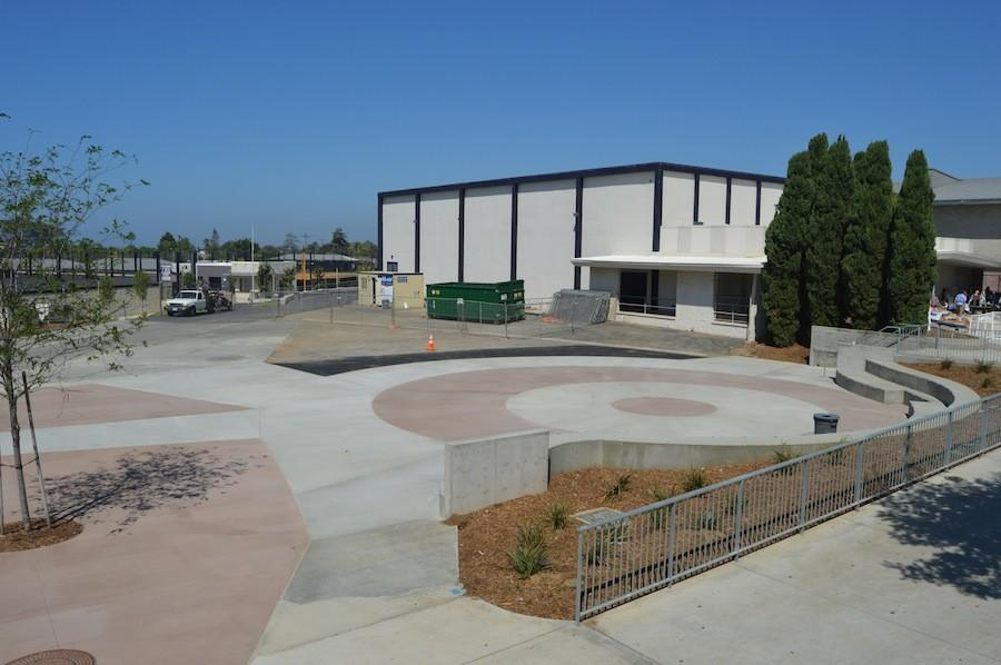 Due to safety concerns, the Carlsbad administration tore down the weight room to create a new ampitheater for students to enjoy their breaks. The new weight room is located in the old wrestling building.