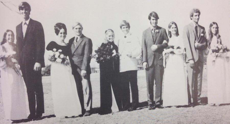 The 1971 Homecoming court.