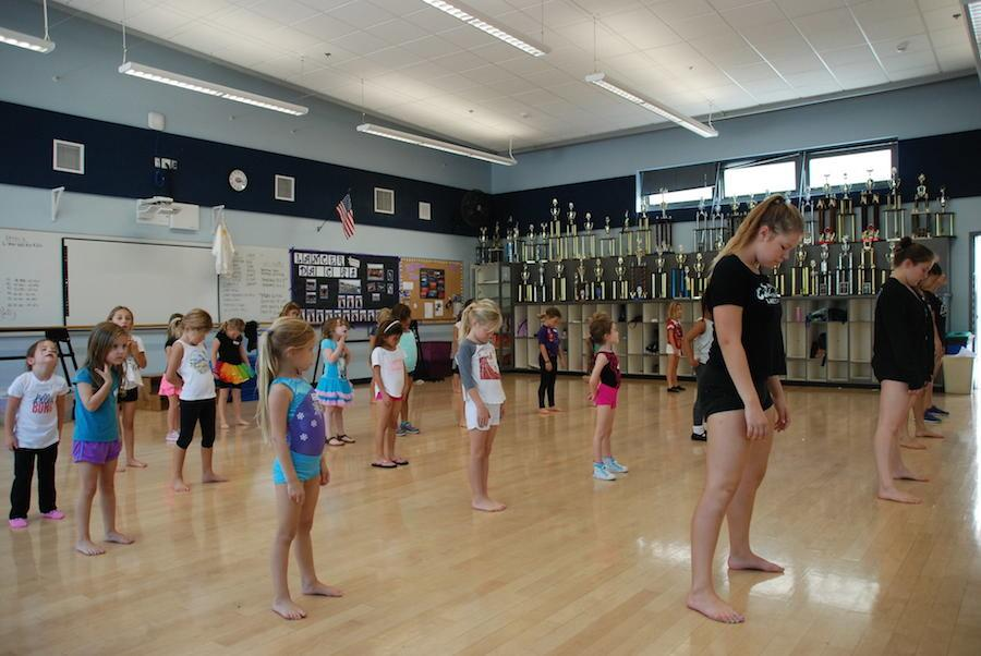 Every Wednesdau after school Lancer Dancers teach classes to younger kids.  The money for the classes  goes to their goal to help get them to UDA Nationals in Orlando, Florida.