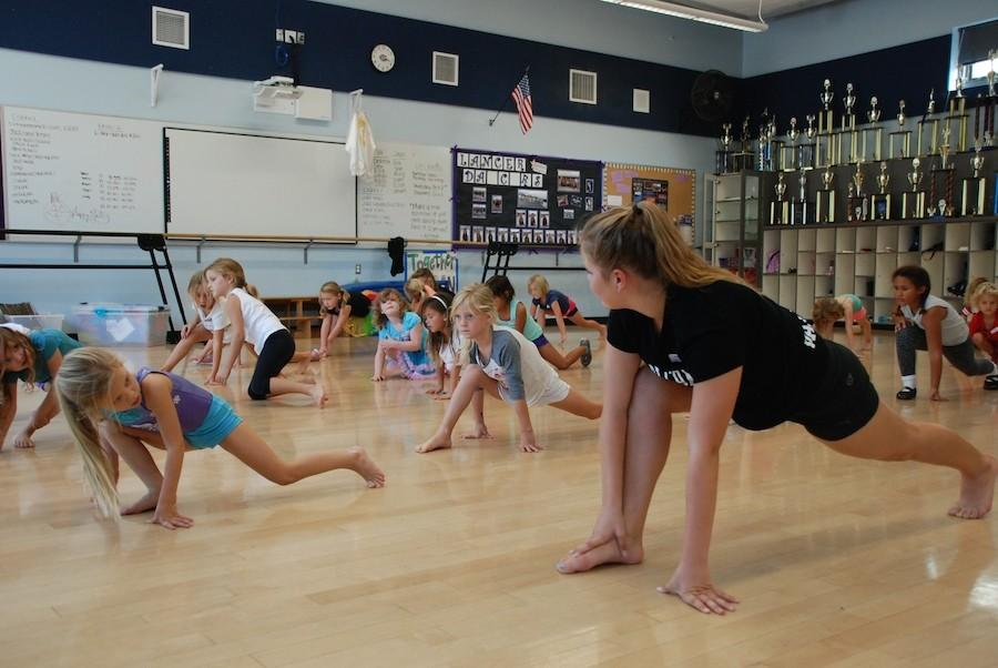 Lancer Dancers teach kid classes every Wednesday from 3-5:30pm. There are three different levels for the kids to go through and each class is an hour. These classes help fundraise for the dancers to go to UDA Nationals in Disney World.