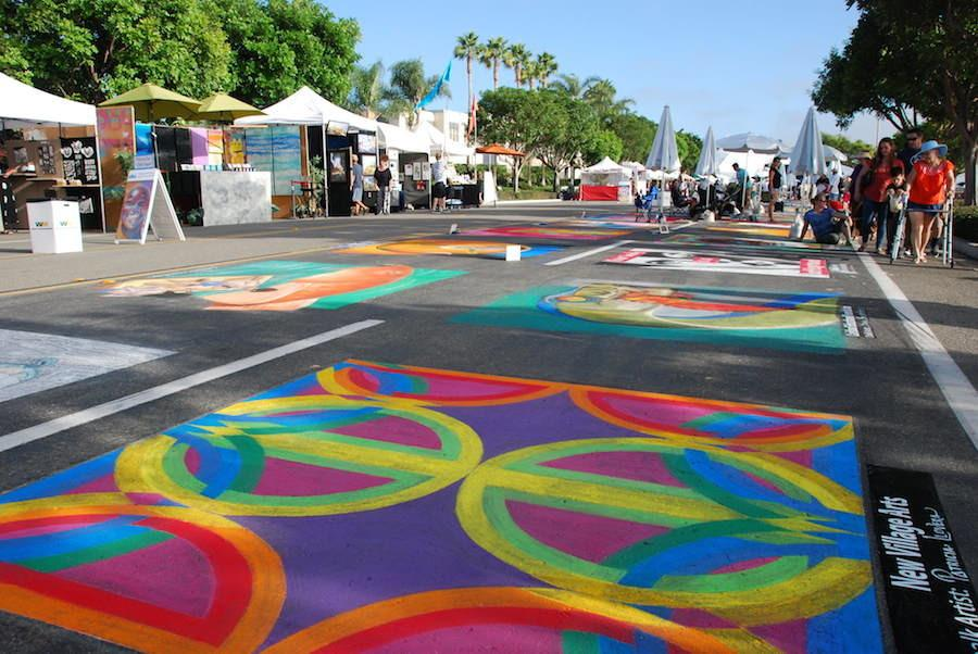 Art Splash is an annual family event promoting and benefitting arts within the community. This year it was September 26-27 and  showcased many chalk drawings along with artists other works.