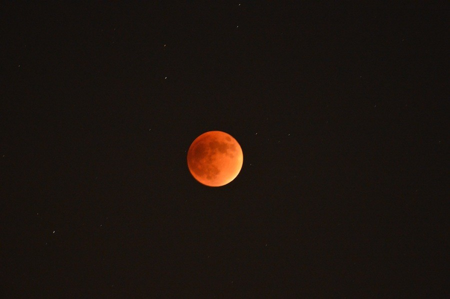 The rare sighting of a lunar eclipse, called the Blood Moon, happened on September 27th. This phenomena only happens every 33 years.