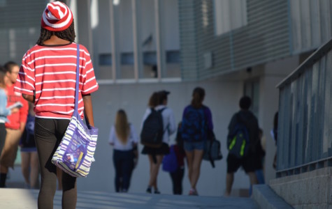 Friday October 30, Carlsbad high students dressed up in their halloween costumes in promotion of a drug free life style. Sophomore, Jada Williams dresses up as Waldo for the last day of red ribbon week.