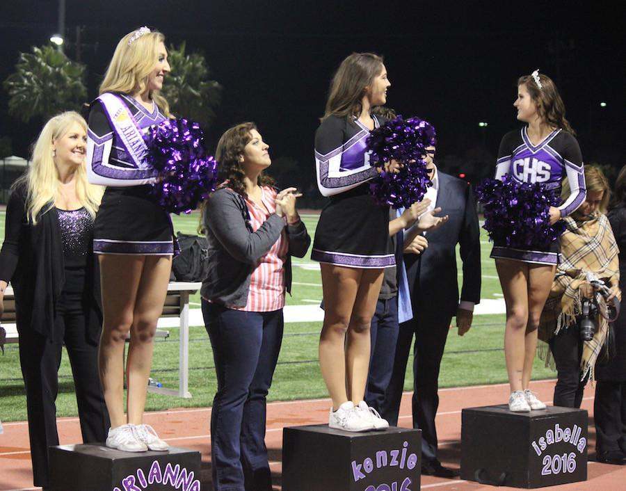 November 6 Carlsbad celebrated senior night. All of those who preformed during the football game, such as cheer and band, were given recognition for all their hard work and stood in front of the stands with their parents for a photo op and announcement.