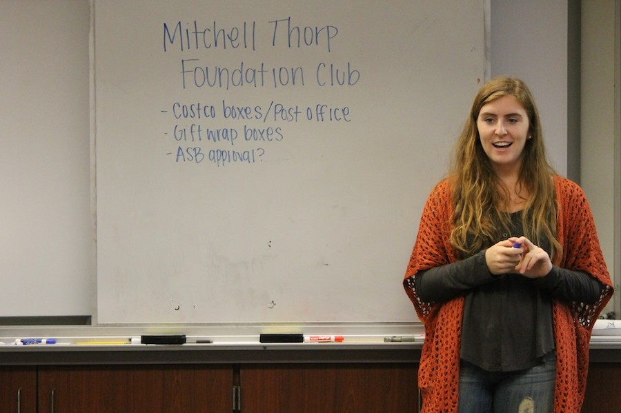 The Mitchell Thorp club meets to discuss future plans for a Christmas toy drive. They meet every first even Wednesday of each month.