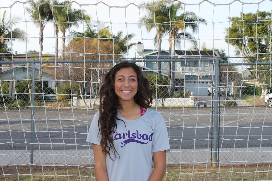Senior%2C+Yasmin+Ahooja%2C+has+been+on+the+Carlsbad+varsity+women%27s+soccer+team+for+four+years+now.+She+will+attend+the+University+of+Michigan+next+year+to+play+division+one+soccer.++