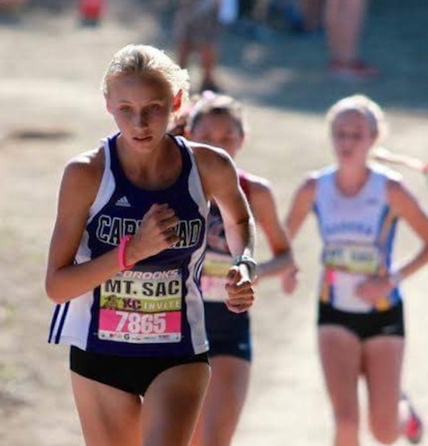 Hannah Hartwell (9) competes for her first year in cross-country. She has been running competitively for 4 years.