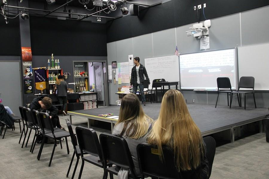 Spoken poetry club is a club on campus for kids who have a passion for poetry. Whether you like to read it, write it, or just the idea of it, everyone is welcome. They meet every Friday in the theater room.