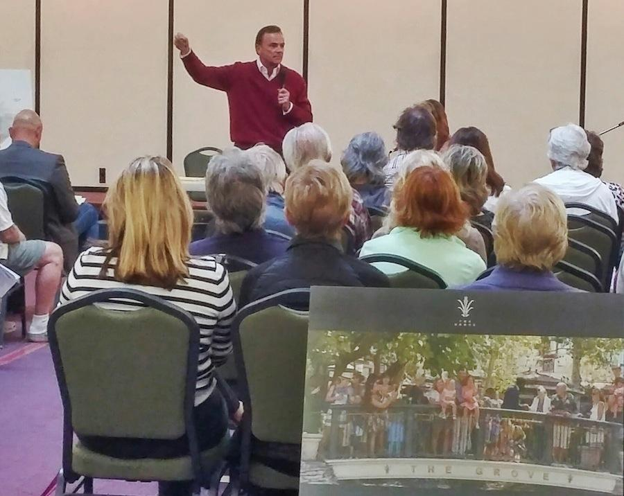 Rick Caruso addresses the community at St.Patricks church on Jan.21 on a heated debate about Prop A. The debate was an attempt to show both sides of the proposition to Carlsbad.