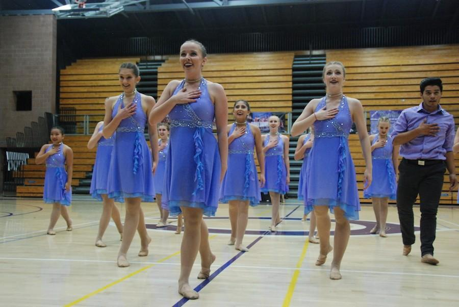 X-Calibur+performed+their+pom+and+jazz+routines+at+the+Friends+%26+Family+event.+They+finished+5th+for+both+dances+at+Nationals.