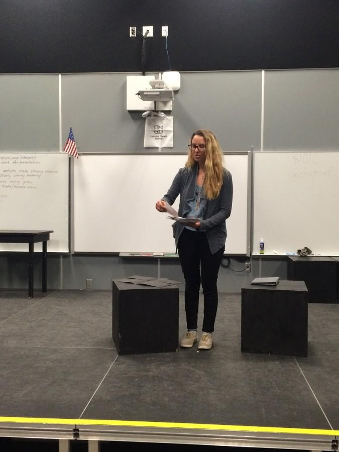 On Friday February 6, spoken word poetry club met. Co- president, Amanda Fields, challenged members to look at pieces of art and create poetry out of it. Later on, members got to share their own poetry and record it to enter in a contest.