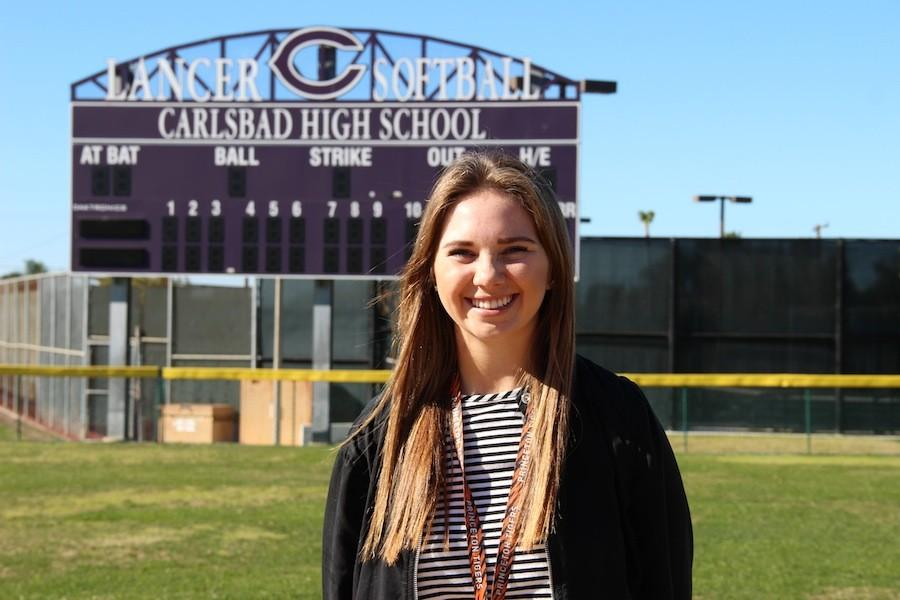 Hannah Lutz (11) has verbally committed to Princeton University for softball. She has played since she was 6 and has always known she wanted to play in college,