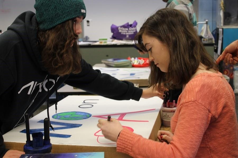 On Thursday February 11, Green Club met at lunch to make posters on Prop A. The proposal has caused quite the controversy in Carlsbad. For environmental reasons, Green Club is no on A.