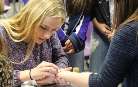 Tatum Bernat recently started a new club based around her interest in special effects makeup. In the class, she hopes to share what she knows about special effects makeup with others. She also hopes to see the club incorporated in school plays and school dances.