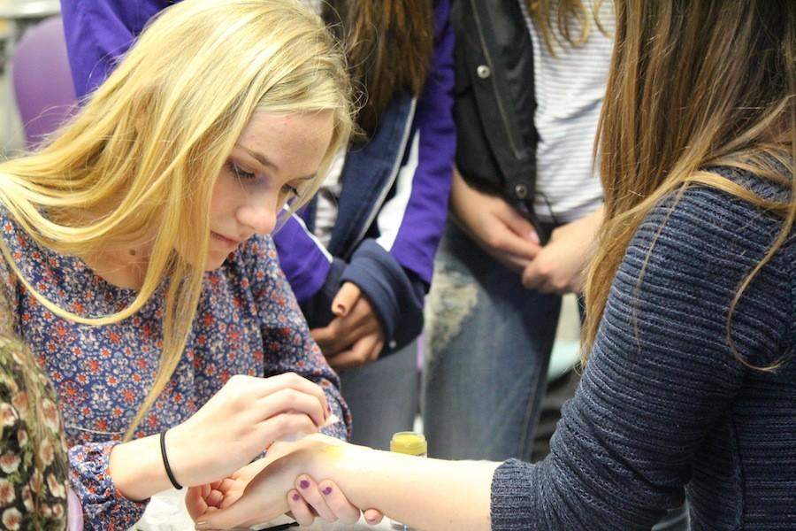 There is a new club on campus called special effects club founded by Tatum Bernat. On February 4, Tatum taught members of the club to make wounds on themselves.  They meet every Thursday in room 8104.