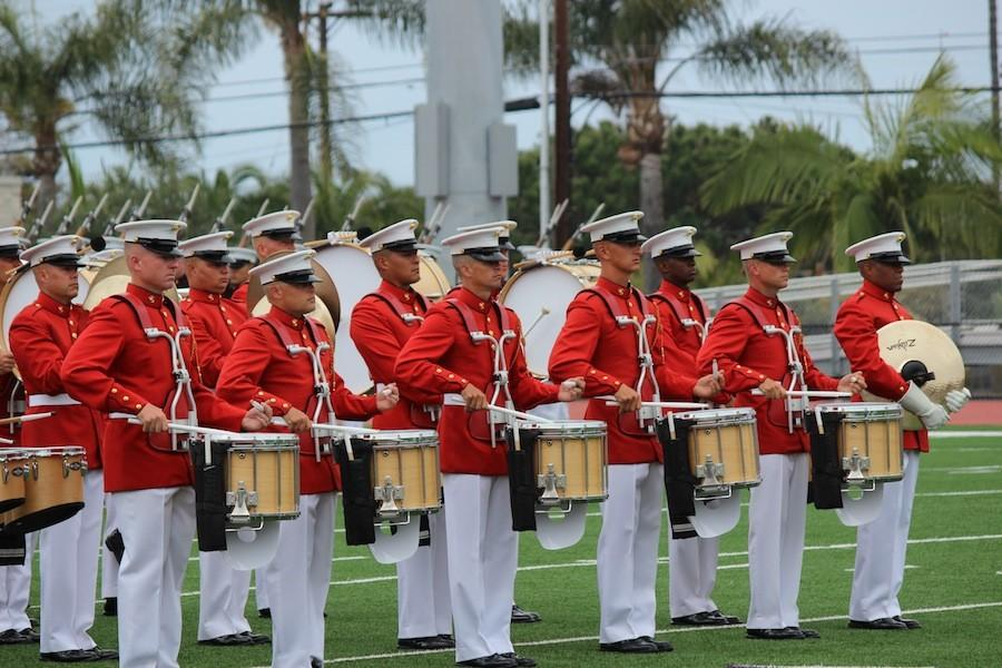 Many of the members were a part of their high school bands and are used to the long hours of practice.
