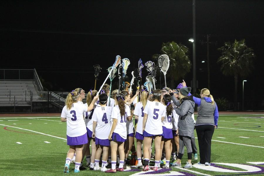 Tues. Mar. 8 Carlsbad's women's lacrosse team started off there season with a game against Torrey Pines. The final score was 3-15 falcons.