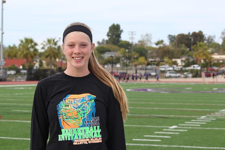 Alana+Snow+is+a+junior+at+Carlsbad+High.+She+plays+a+remarkable+four+sports+including+basketball%2C+softball%2C+volleyball+and+track.+As+well+as+being+a+star+athlete%2C+she+is+a+member+of+many+clubs+on+campus.+