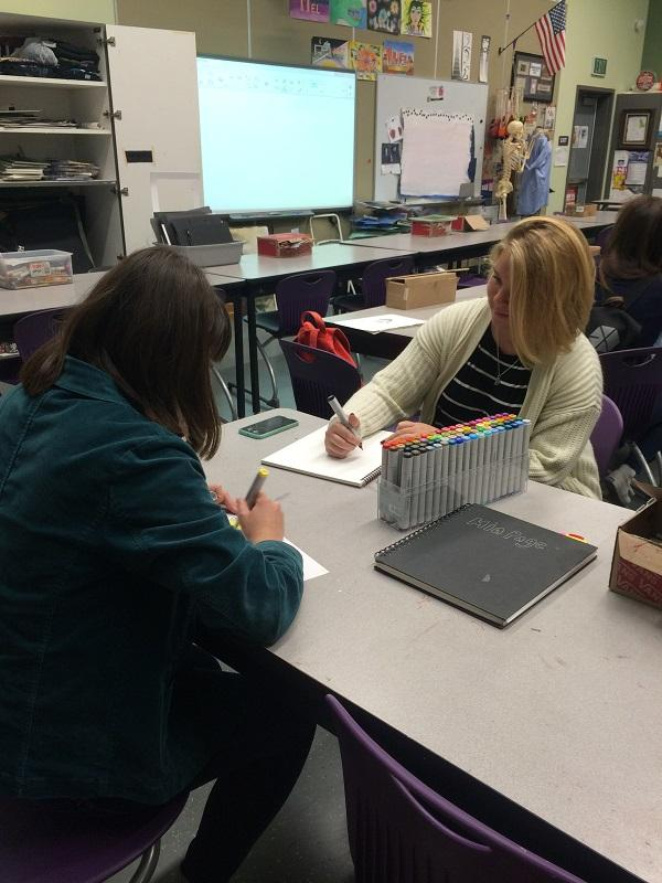 Creative Alliance club meets every Thursday in room 5102. The club focuses on art and creativity. On April 14, the club met and treasurer Shiau-Chi Lin along with co-president Danika Lara drew in their sketchbooks.