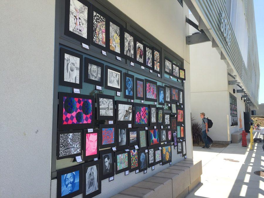 Hundreds of Carlsbad High School put their art on display at the Annual Art Crawl. Students from all levels of art showed their different talents and skills.