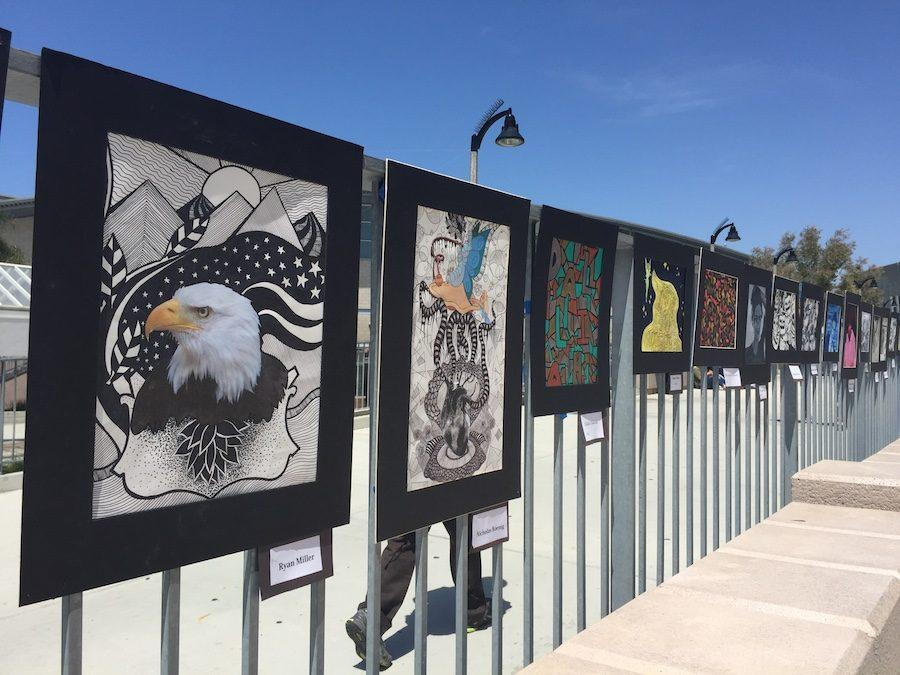 The art programs at Carlsbad are open to anyone willing to learn. The art classes are open to all grade levels  so just talk to your counselor if you're interested.