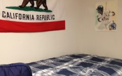 Michael Schoen's freshman dorm room at Gonzaga University.