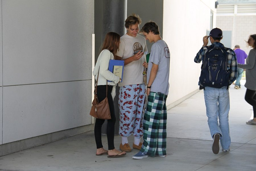Friday, May 20, was pajama day.  Students got to show up in their pjs as part of the anticipation for prom.