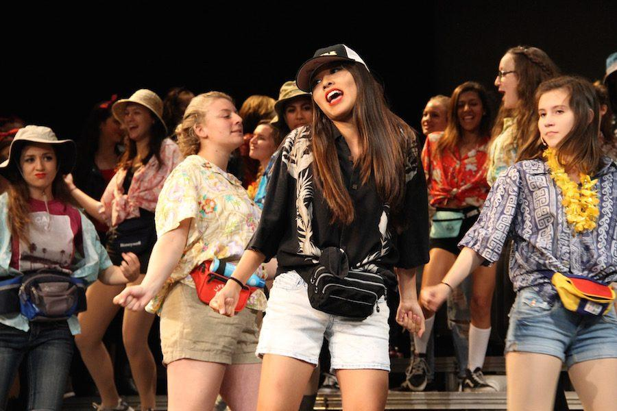 All the choir girls performed together for the end of Act I. Choir held their 'Pop show' June 2- June 4.