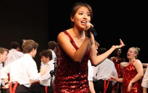 Megan Chua (12) sings during Sound Express' final act.