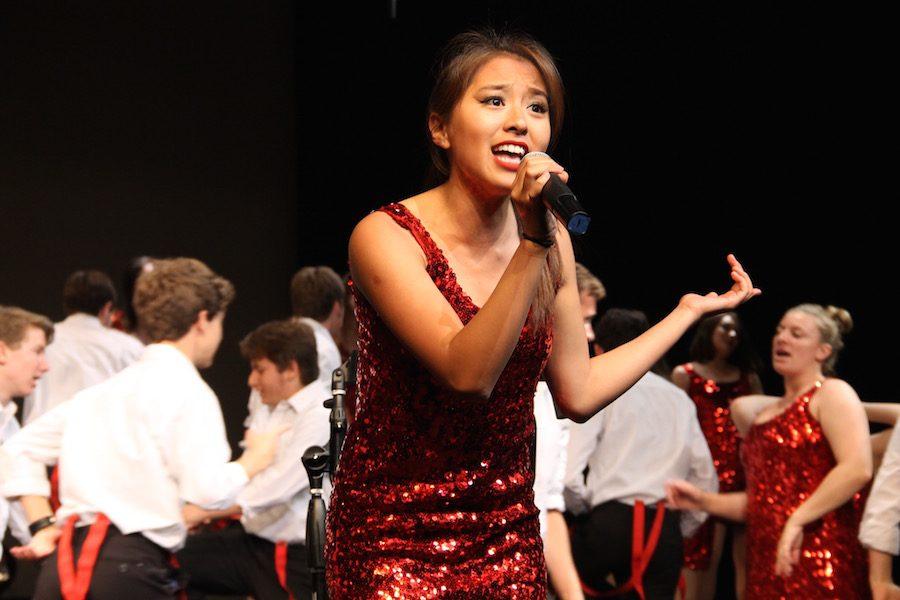 Megan Chua (12) sings during Sound Express final act.