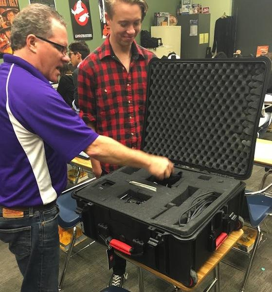 Students are given kit which include all the equipment needed to put a film together.