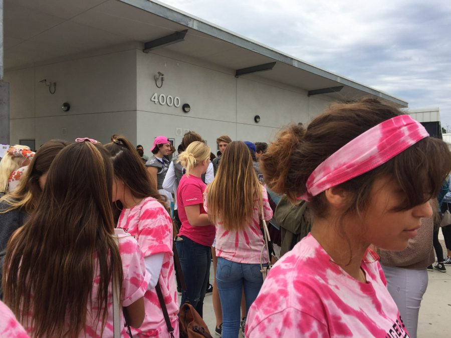 CHS students are dressed in pink shirts sold by ASB. Last Friday, Oct. 28, students wore pink to support breast cancer and to conclude Red Ribbon Week.