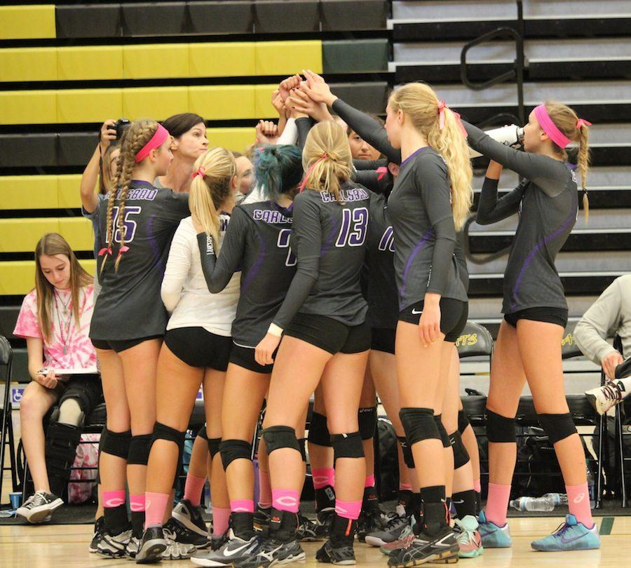 On+Tues.+Oct.+11+Sage+and+Carlsbad+faced+each+other+on+the+volley+ball+court.+Although+Carlsbad+lost+the+first+of+four+games%2C+we+ultimately+took+the+win+against+Sage.++