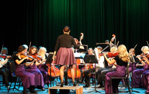Carlsbad High school's chamber and string orchestras puts on a performance displaying their progress so far this year. On Thurs. Oct. 13 the orchestra and a few select pianist performed for their friends and family in the CAC.