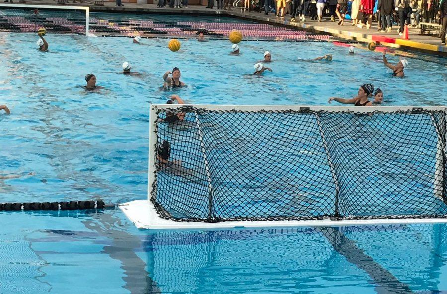 Sat. Feb. 18 Carlsbad High Schools womens water polo team played Coronado High for their first round of open division CIF playoffs.  CHS came out on top with a win 7-4, sending them into the second round of playoffs.