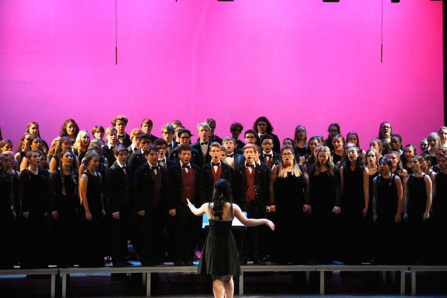 On Thurs. Feb 2 Carlsbad's choirs preformed in their Coral Night with the Stars show. From CHS's Sound Express choir to our Lancer choir all showcased their singing and dancing talents to friends, family, and peers.