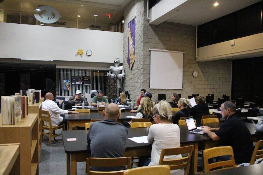 On Wed. Feb. 15 many parents met to discuss the upcoming baseball season. They discussed finances, practice times, and other important things regarding the season.