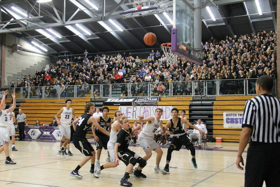 Carlsbad took on Sage Creek and came out on top at the white out game. Carlsbad's players worked hard, played well, and ultimately took the win against the Bobcats.