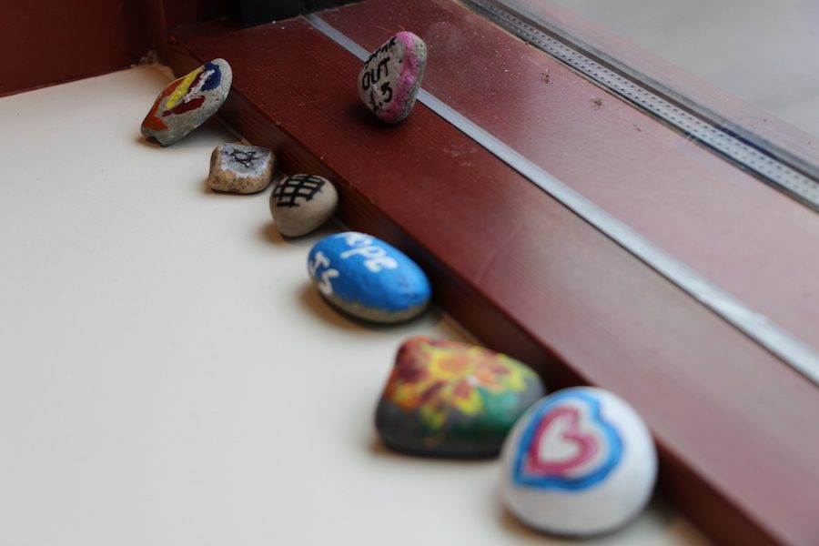 many students who come to the Holocaust for Humanity Center paint rocks in memory of the children who lost their lives in this event. The rocks symbolize that the lives lost will forever be remembered.