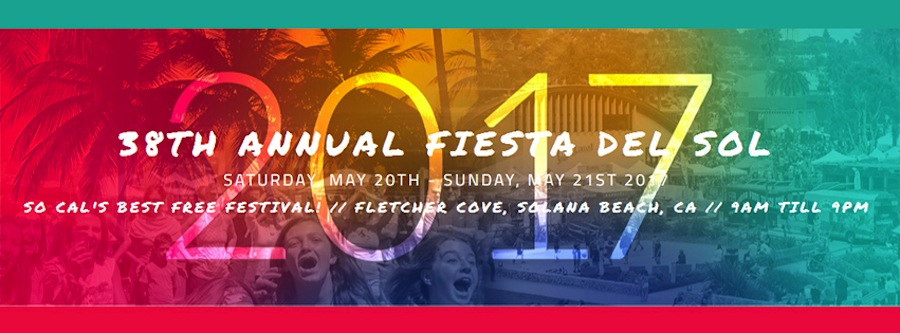 Attend the annual Fiesta Del Sol festival for free in Solana Beach on the 20-21 of May.