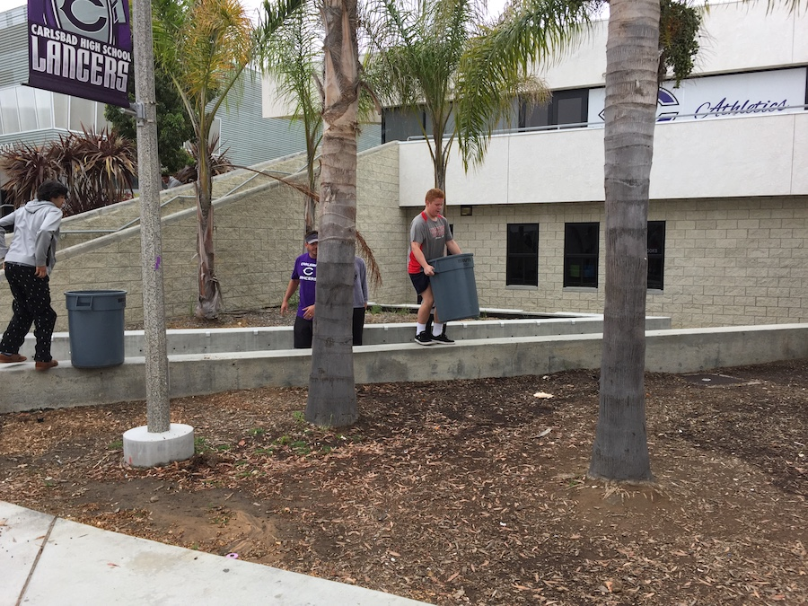 Carlsbad High students work together in cleaning up the campus. Sat. Jun. 3 Carlsbad High School held its first ever campus beautification where students where urged to volunteer and help clean up the campus.