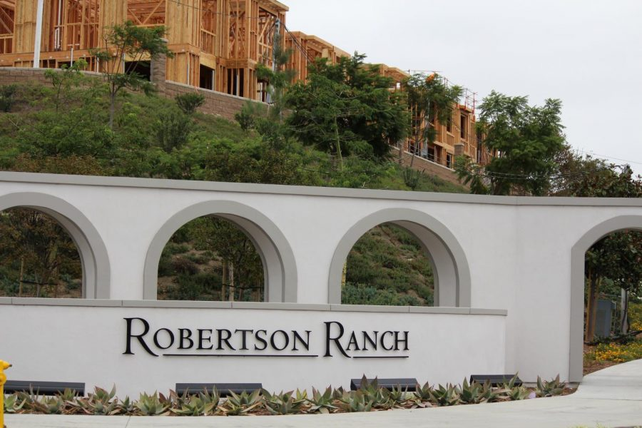 A new neighborhood is built off of El Camino Real. Robertson Ranch is currently undergoing construction.