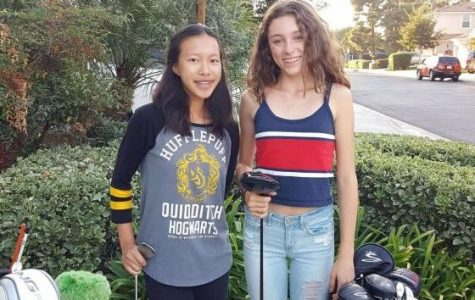 Two freshmen swing their way onto the girls varsity golf team