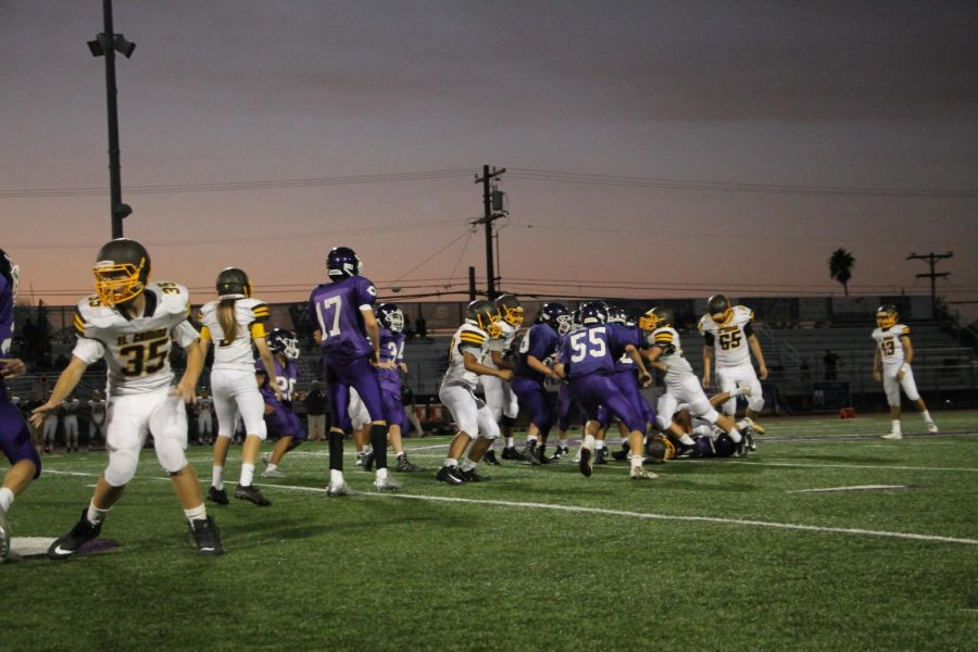 Freshman football play El Camino at home on Thursday, Oct. 26. The freshman team lost the game 0-6.