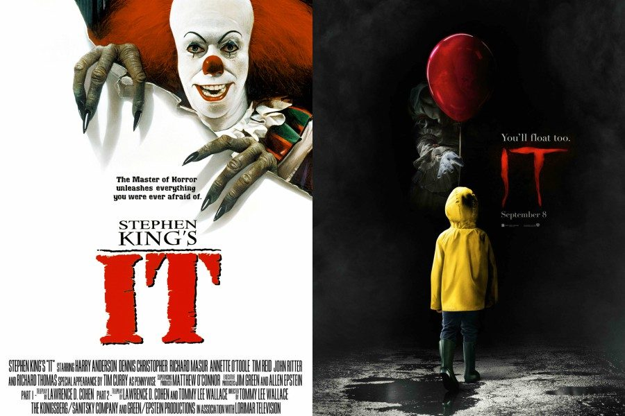 It the mini-series is released through ABC in 1990 and It the movie is released in theaters in 2017. The series and movie are both based on the Stephen King novel of the same name.