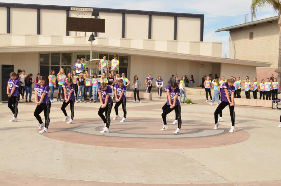 The Lancer Dancers perform their unique moves during their last pep rally. They practiced very hard and put their best effort on every pep rallies which included the Halftime show for Varsity football.