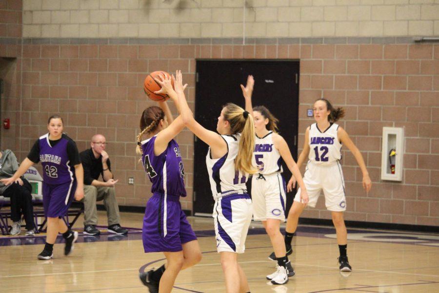 Carlsbad High Schools girls junior varsity basketball team faced Santa High School at home. The girls varsity game followed.