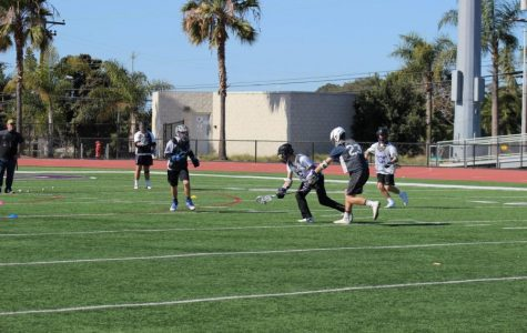 Carlsbad JV lacrosse practices for their upcoming games in the next few weeks.