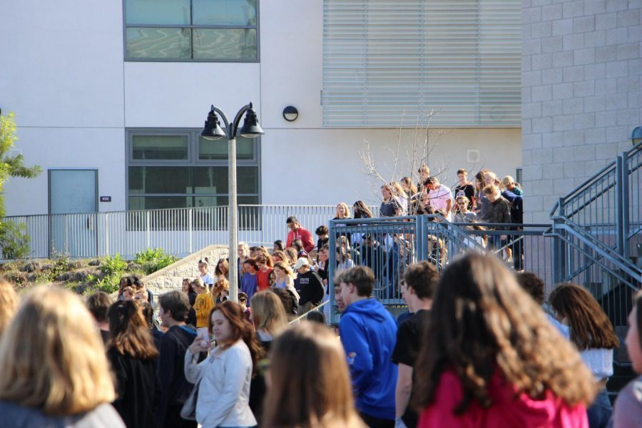 On March 14, 2018 students at Carlsbad High School walked out to remember those affected by school shootings and to bring awareness to gun violence and gun laws.